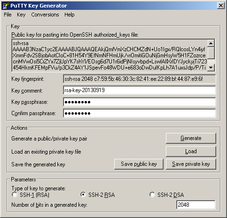 Setting passphrase for private key
