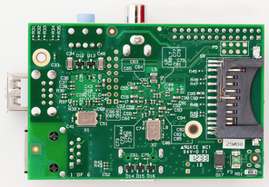 Raspberry Pi Model B rev. 2 (back view)